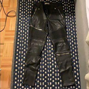 Zara leather Moto pants